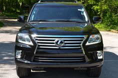 2013 Lexus LX in Black Onyx with Black leather highlighted by Mahogany wood accents - At #MungenastLexus of #StLouis | #Lexus #Luxury #SUV