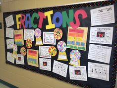 Fractions bulletin board (would need to find more challenging activities for middle schoolers)