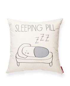 Sleeping Pill Linen Throw Pillow