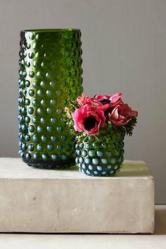Anthropologie Mouth-Blown Hobnail Vase