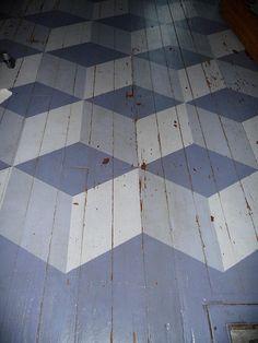 floor cubes in paint