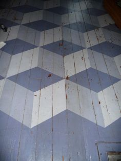 floor cubes in paint