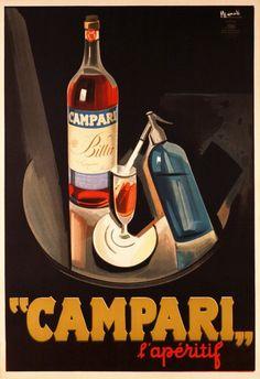 Campari, l'apéritif - vintage poster