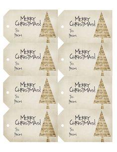 Free printable - vintage style music sheet Christmas gift tags!