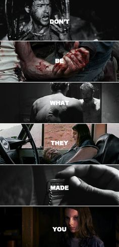 """There's no living with a killing. There's no going back from it. Right or wrong, it's a brand, a brand that sticks. There's no going back."" #logan"
