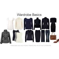 This basic wardrobe is colour neutral, meaning it will suit almost all complexions, although it will suit some people more than others. Classic Wardrobe, Wardrobe Basics, Work Wardrobe, Capsule Wardrobe, Small Wardrobe, Capsule Outfits, Fashion Capsule, Business Outfits, Office Outfits