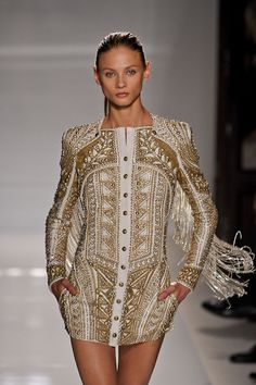 You've gotta love how detailed Balmain's S/S 2012 Collection is.