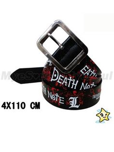 Anime Death Note Leather Belt
