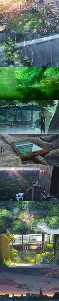 The amazing visuals of Garden Of Words (anime movie)