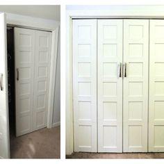 Closet Storage For The Bi Fold Doors