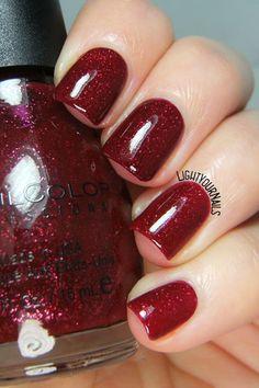 Smalto Sinful Colors Ruby Glisten nail polish red glitter #sinfulcolors @sinfulcolorsNP