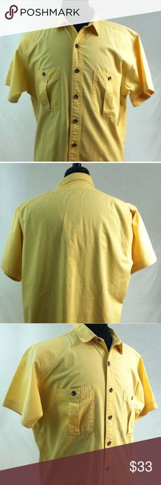 THE NORTH FACE Mens Shirt Medium - Large Yellow THE NORTH FACE  Mens Shirt  Size Medium - Large  Short Sleeve   Yellow  100% Cotton  Excellent Condition  No holes or stains The North Face Shirts Casual Button Down Shirts