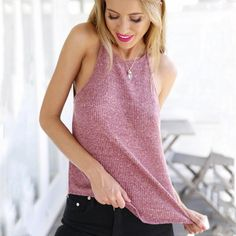 Summer Knitted Ladies Tank