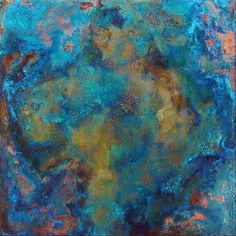 Copper Blue Color   Metal Tile Art_Metal Tile Wall Art_Large Metal Wall Art_Big Wall Art
