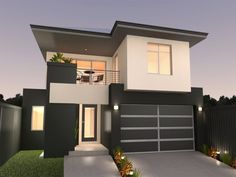Photo of a house exterior design from a real Australian home - House Facade photo Browse hundreds of facade designs from Australian homes on Home Ideas. House Outside Design, House Front Design, House Design Photos, Modern House Design, Two Storey House, Villa, Minimalist Architecture, Decoration Inspiration, Exterior House Colors
