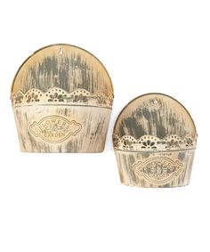 This 'Flower Garden' Two-Piece Tin Wall Planter Set by PD Home and Garden is perfect! #zulilyfinds