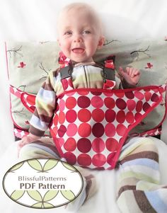 Travel High Chair PDF Sewing Pattern  INSTANT por BLISSFULpatterns, $8.00