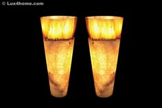 Illuminated pedestal sinks. Natural onyx. Lux4home™