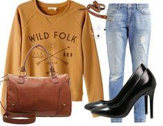 C'est la rentrée des cool kids ! Retrouvez cette tenue ici: http://stylefru.it/s533466 #outfitoftheday #ootd #mode