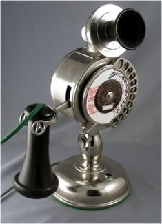 Fully Refurbished Strowger Potbelly telephone. This was the first dial telephone  Repinned by www.silver-and-grey.com