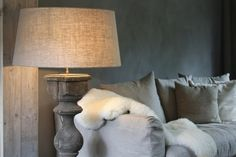 rustic grey wood and linen for a soothing living room palette Home To Roost, Decor, House Interior, Living Room Inspiration, Family Living Rooms, Home, Interior, White Upholstery, Living Room Grey