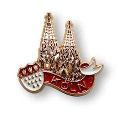 Pin 'Kölner Dom mit Wappen'. - Der KölnShop