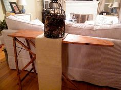 The Cozy Cape: Ironing Board Turned Sofa Table
