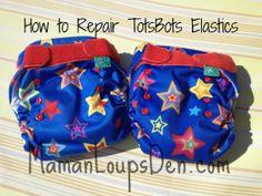 how to repair TotsBots elastics