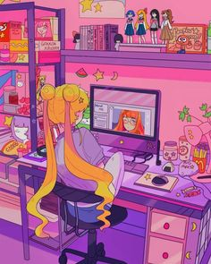 """♡ *usagi* ♡ _sailor moon_"" ""*inspired fashion fits:*"" ""*hair:* twin buns are the way to go!"" ""*vibe:* sweet, simple, and cute."" ""*colors:* pink, m. Sailor Moon Fond, Arte Sailor Moon, Sailor Moon Crystal, Sailor Moon Tumblr, Sailor Mars, Sailor Moon Quotes, Sailor Moon Manga, Sailor Venus, Kawaii Wallpaper"