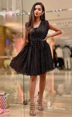 Western Dresses For Girl, Cute Little Girl Dresses, Stylish Girls Photos, Stylish Girl Pic, Beautiful Girl Indian, Most Beautiful Indian Actress, Casual Day Outfits, Trendy Outfits, Short One Piece