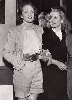 Marlene Dietrich and Carole Lombard