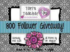 Tori's Teacher Tips: 800 Follower GIVEAWAY!!