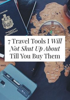 If we meet in real life, I'm going to be awkwardly pushy about how you REALLY JUST NEED to buy/make/borrow these 7 travel tools. Travel Info, Travel Packing, Travel Advice, Time Travel, Places To Travel, Travel Destinations, Packing Tips, Packing Cubes, Travel Things
