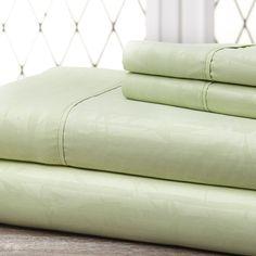 Microfiber Embossed Bamboo Sheet Set