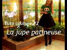 Tuto couture #2 : la jupe patineuse / circle skirt - YouTube