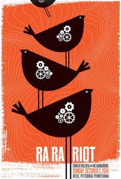 Ra Ra Riot, with Chikita Violenta & We Barbarians poster | strawberryluna
