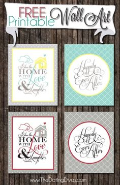 Wall-art-freebie- Sign up to receive access to these printables! Once you have access- click on the download link under the image in pink- download the pdf for all and save as! by cherry