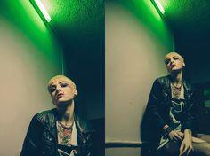 """""""PUNK ROCK"""" Photographer: Manuele Zangrillo Fotografo (Garage adv Model: Francesca Sebastiani Make Up: Vittoria Di Nucci Location: Monique's Pool Hall Bar  www.garageadv.it #model #garage #garageadv #advertising #fotografia #foto #biliardo #luci #rock #metal #girl"""