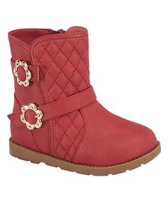 Red Ariel Floral Quilted Boot by Lucky Top #zulily #zulilyfinds