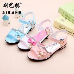 Children sandals girls shoes kids sandals chaussure fille bowknot Diamond decoration Non-slip Wear-resisting