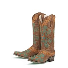 Lane, Brown 'Old Mexico' Cowboy Boots