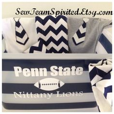 8a34932ca Custom Baby Shower Gift in Penn State Colors on Etsy, $45.00 Custom Clothes,  Baby
