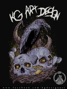 Fanpage: https://www.facebook.com/KGDesignArt/ #raven #crow #skulls #digital #kgartdesign