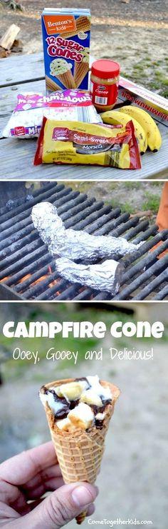 Campfire Cones #campfiresmores
