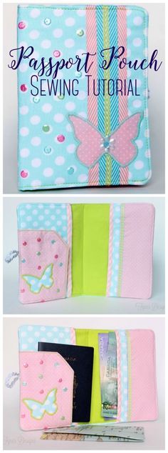 4c230d7877ea98 FREE passport pouch step by step sewing tutorial Diy Passport Holder, Pouch  Tutorial, Wallet