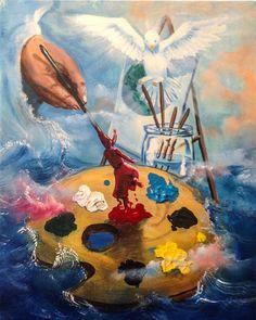 The seed was called back - Prophetic art/SilentPreacher Christian Warrior, Christian Art, Art Heaven, Art Prophétique, Painting Inspiration, Art Inspo, Prophetic Art, Jesus Art, Biblical Art