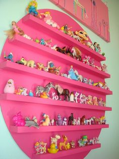 Really great idea for little toys. So many times they are put in a toy box rarely seen!