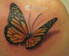 sportyviews.com 3d Monarch Butterfly Tattoo