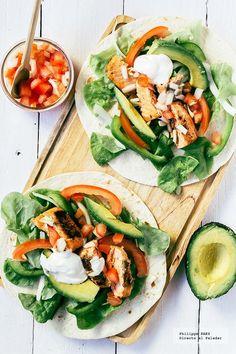Marinated Salmon tacos
