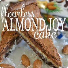 Craving chocolate? The decadent flavors in this rich, dense Flourless Almond Joy Cake will satisfy any sweet tooth. No one will believe it's gluten free!
